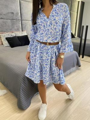 Błękitna Sukienka w Kwiaty 5960-63