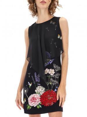 Czarna koktajlowa sukienka mini Desigual EVITA