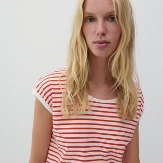 Reserved - T-shirt z bawełny organicznej - Czerwony