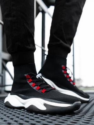 Buty męskie sneakersy T355 - czarne - 45