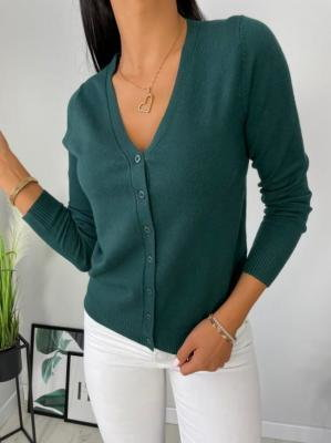 Zielony Rozpinany Sweterek 6497-322-F