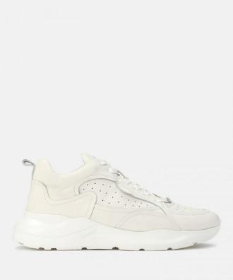 Sneakersy męskie w kolorze złamanej bieli