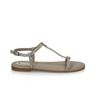 Beżowe sandały damskie : Rozmiar - 41