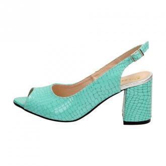 Zielone POLSKIE sandały damskie SUZANA 1450o