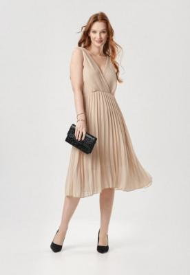 Beżowa Sukienka Loragena