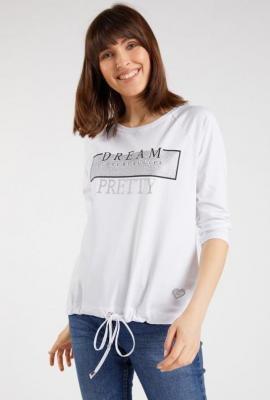 Bluza z połyskującym panelem