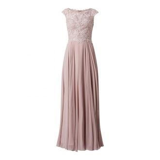 Sukienka wieczorowa z siateczki i szyfonu