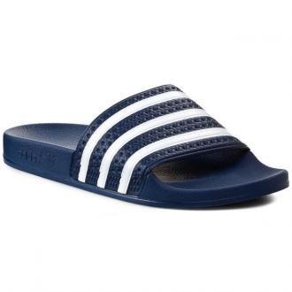 Klapki adidas - adilette 288022 Adiblu/Wht/Adiblu