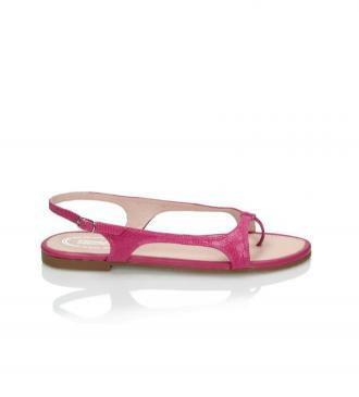 Różowe sandały damskie : Rozmiar - 38,5