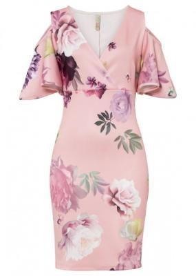 Sukienka bonprix jasnoróżowy w kwiaty
