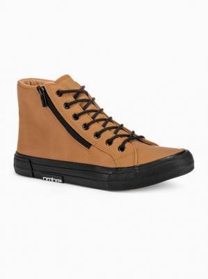 Trampki męskie sneakersy T352 - camel - 44