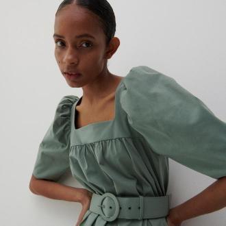 Reserved - Dzianinowa sukienka - Zielony