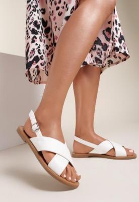 Białe Sandały Psalalphia