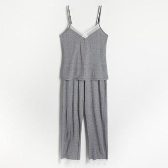 Reserved - Dwuczęściowa piżama z długimi spodniami - Czarny