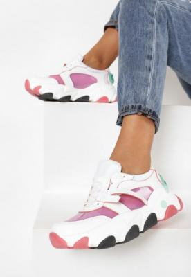 Biało-Różowe Sneakersy Evimellia