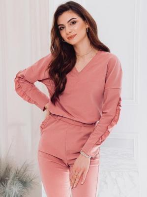 Komplet damski bluza + spodnie 004ZLR - różowy - XS/S