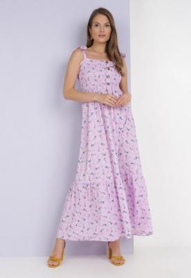 Liliowa Sukienka Amanoire