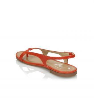 Pomarańczowe sandały damskie : Rozmiar - 38