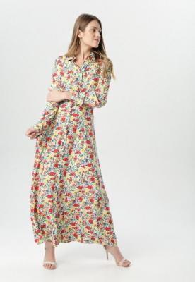 Biało-Żółta Sukienka Phioles
