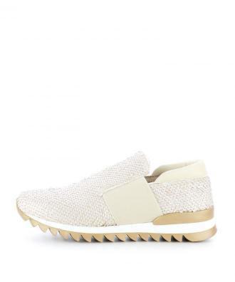 Białe sneakersy z gumką