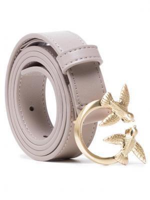 Pinko Pasek Damski Love Berry Small Simply Waist Belt PE 21 PLT01 1H20VY Y6XF Beżowy