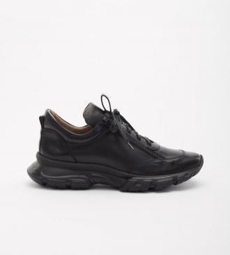 Czarne sneakersy damskie : Rozmiar - 36