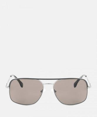 Czarno srebrne okulary przeciwsłoneczne