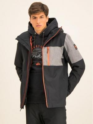 Quiksilver Kurtka narciarska Mission Plus EQYTJ03215 Czarny Slim Fit