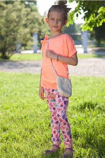 Spodnie dziewcięce różowa DZ6009