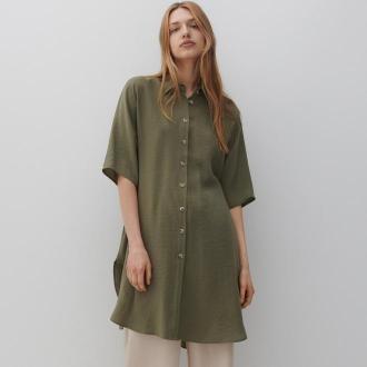 Reserved - Koszula z wiskozą - Zielony