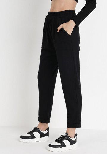 Czarne Spodnie Dresowe Lyvyre