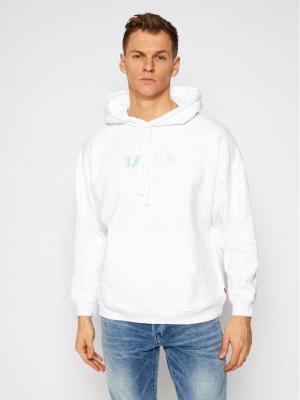 Levi's® Bluza Rider Iridescent Graphic 34400-0011 Biały Oversize