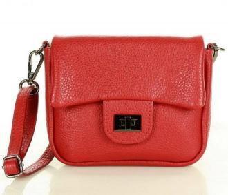 Mini torebka etui na telefon na pasku wizytowa listonoszka phone pouch - MARCO MAZZINI czerwony