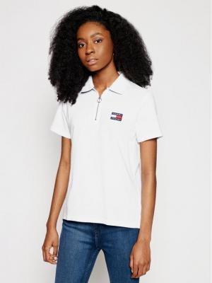 Tommy Jeans Polo Tjw Badge DW0DW09146 Biały Regular Fit