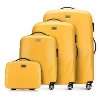 Zestaw walizek z polikarbonu jednokolorowych