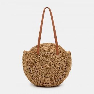 Mohito - Okrągła torebka z plecionki - Beżowy
