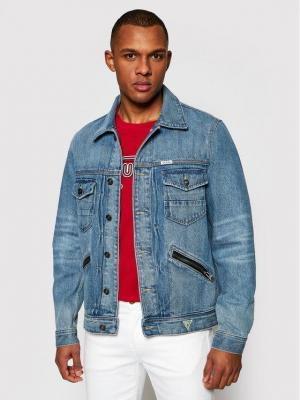 Guess Kurtka jeansowa Dillon M1GXN1 R48K0 Niebieski Regular Fit