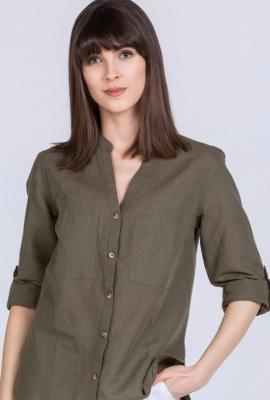 Lniana koszula damska