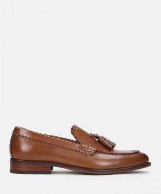 Brązowe loafersy męskie