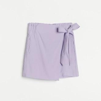 Reserved - Gładkie szorty z wiskozą - Fioletowy