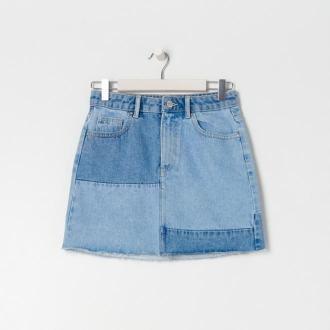 Sinsay - Jeansowa spódnica mini ECO AWARE - Niebieski