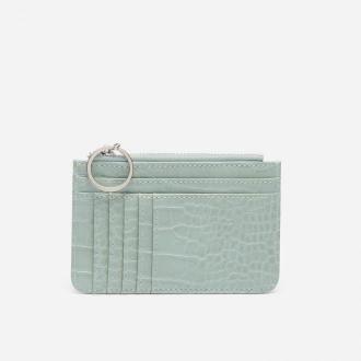 House - Mały portfel z imitacji skóry węża - Zielony