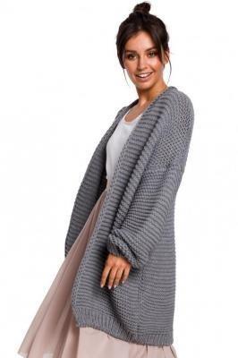 Fantastyczny sweter kardigan z grubej przędzy