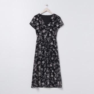Sinsay - Sukienka midi z kwiatowym wzorem - Wielobarwny