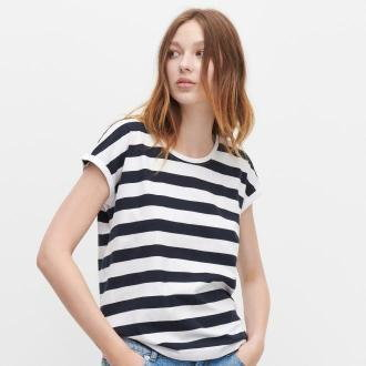 Reserved - T-shirt basic z bawełny organicznej - Wielobarwny