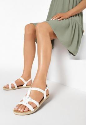 Białe Sandały Mirthful