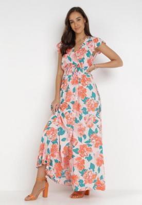 Różowo-Pomarańczowa Sukienka Acsesi
