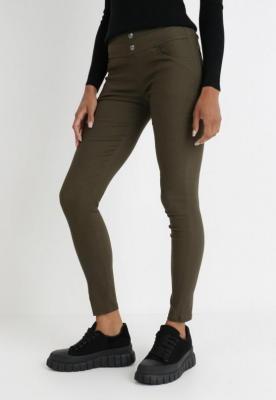 Ciemnozielone Spodnie Skinny Khlorede