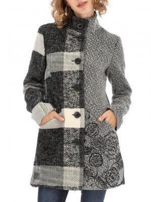 Fakturowany krótki płaszcz Desigual IBIZA