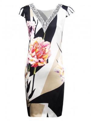 Trapezowa sukienka w kwiatowy wzór Potis & Verso POMA